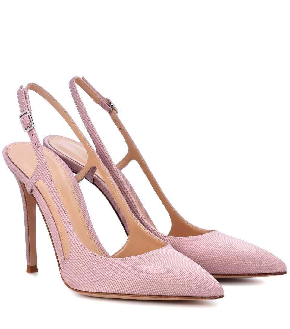 3010fc9a66a Gianvito Rossi Exclusive To Mytheresa.Com - Grosgrain Slingback Pumps In  Pink