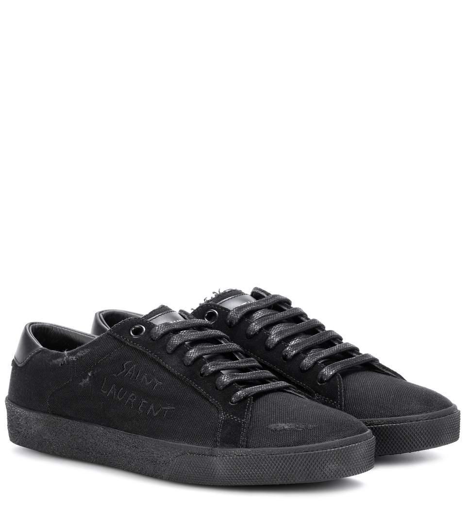 Saint Laurent Court Classic Sl/06 Sneakers In Black