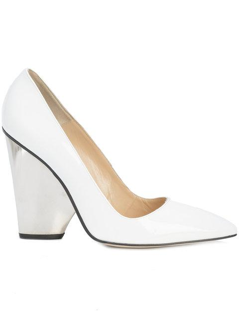 Paul Andrew Sculpted Heel Pumps - White