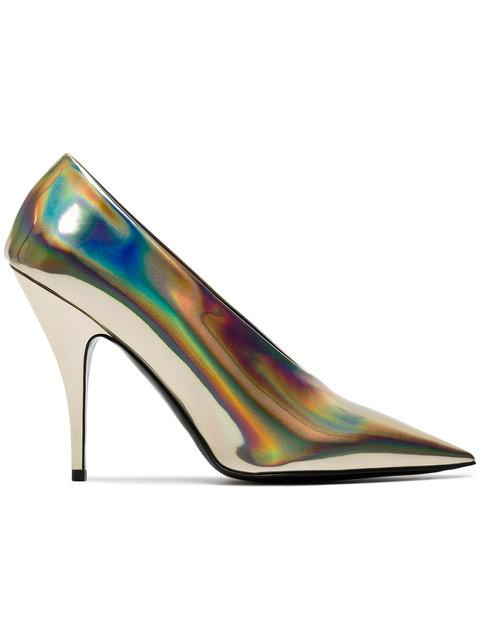 6b068d55a348 Size. Store Status Price. Stella Mccartney Holographic Gold 105 Pumps In  Metallic