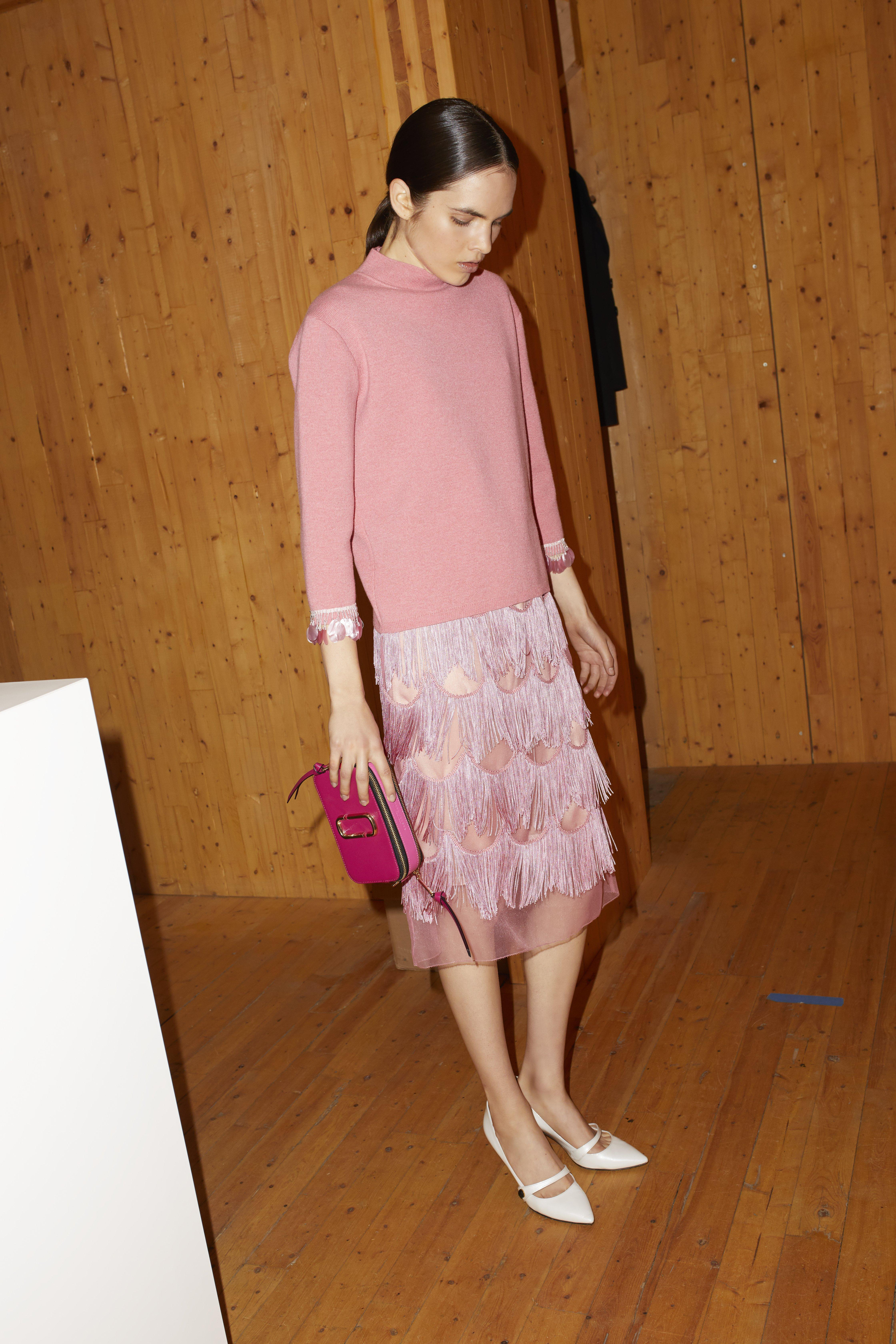Marc Jacobs Fringe Skirt In Pink