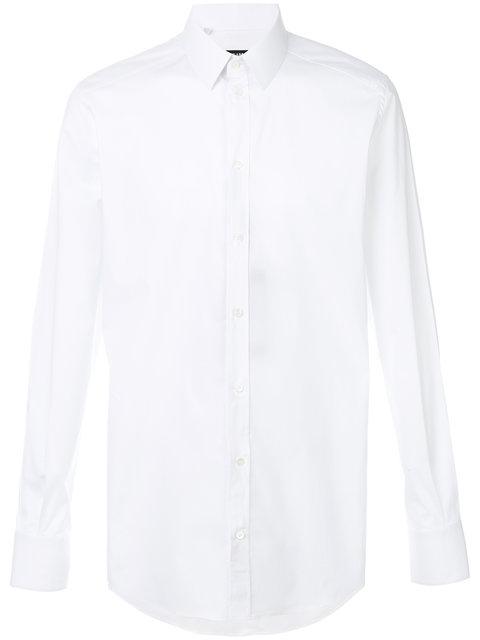 Dolce & Gabbana Gold Fit Shirt In Cotton Poplin In White