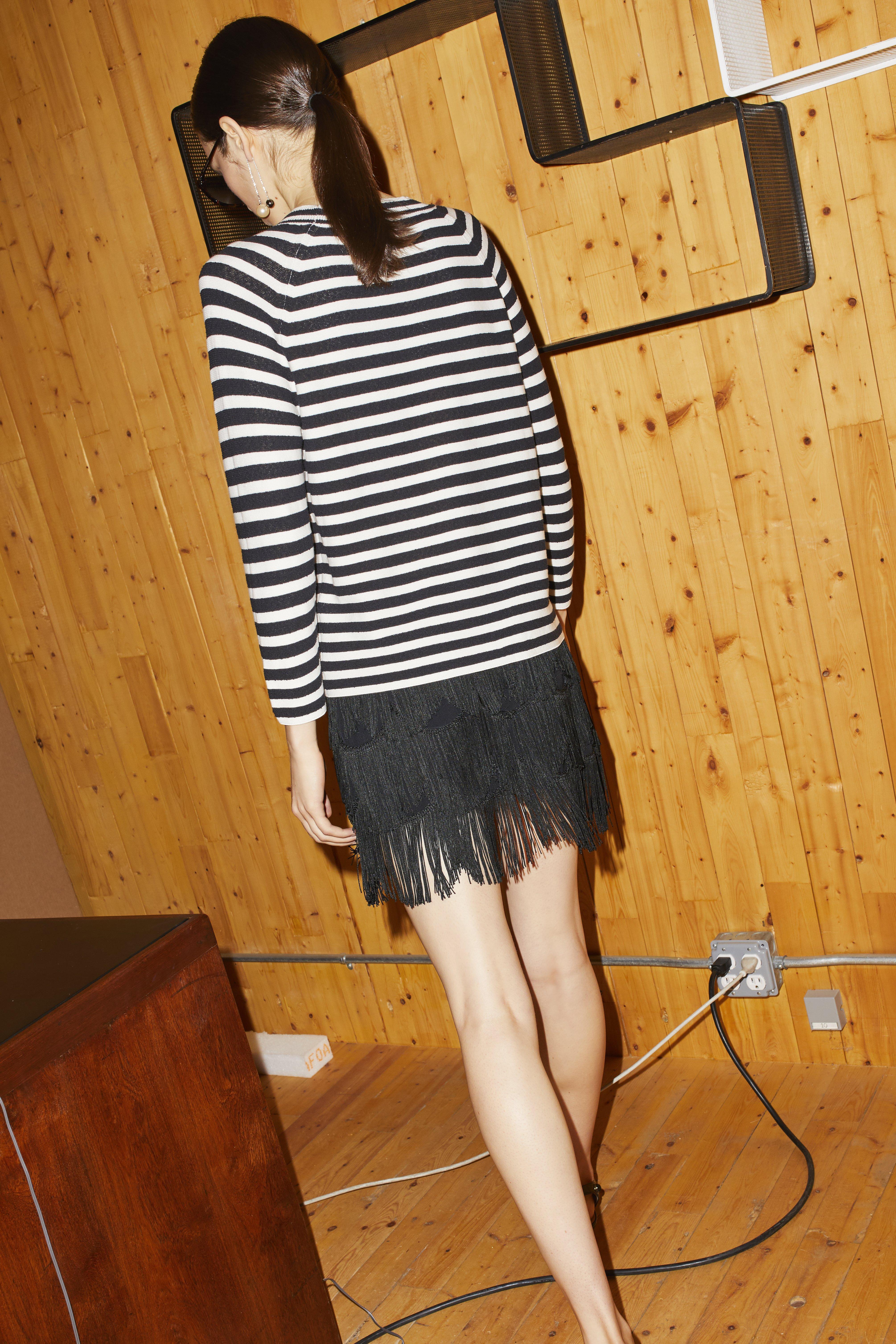 Marc Jacobs Fringe Mini Skirt In Black
