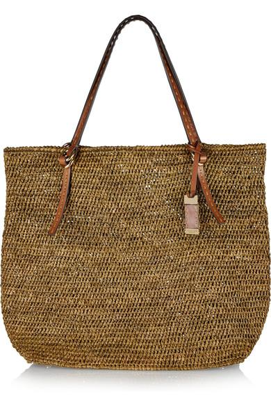 Michael Kors Santorini Large Raffia Tote Bag, Luggage