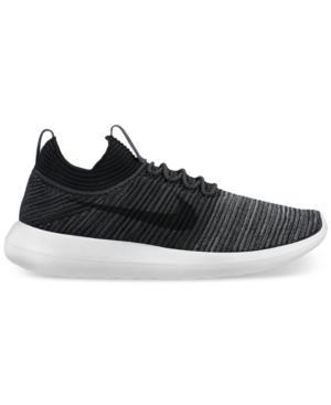 753cb4868bf9 Nike Men s Roshe Two Flyknit V2 Casual Sneakers From Finish Line In  Black Black-