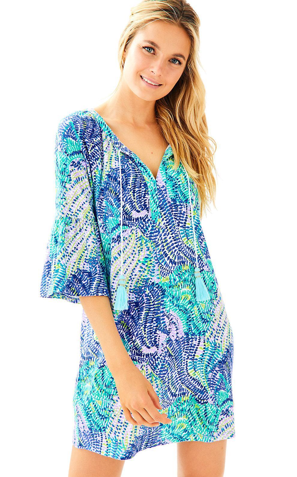 560f8efd83b Lilly Pulitzer Del Lago Tunic Dress In Blue Current Fantasea