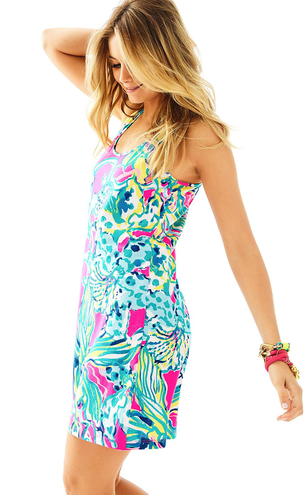 c0c2e4bedb9355 Lilly Pulitzer Melle Trapeze Tank Dress In Magenta Hottie Reduced ...