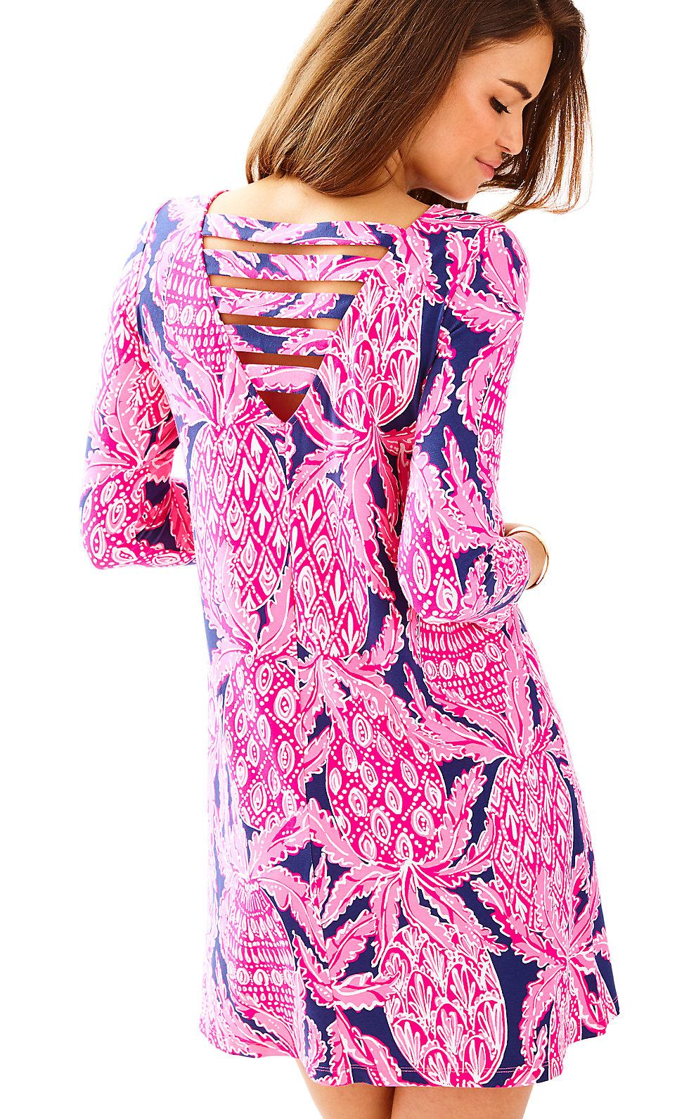783a9c08016076 Lilly Pulitzer Ophelia Swing Dress In Bright Navy Coco Safari | ModeSens
