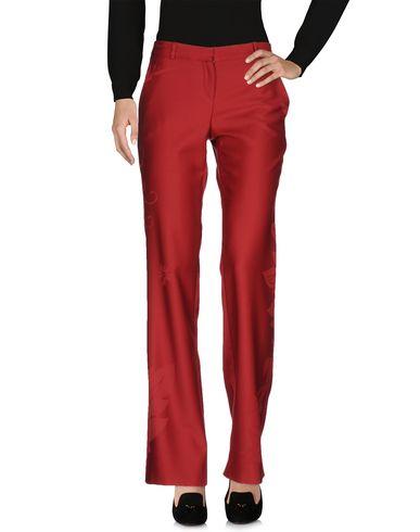 Versace Casual Pants In Maroon