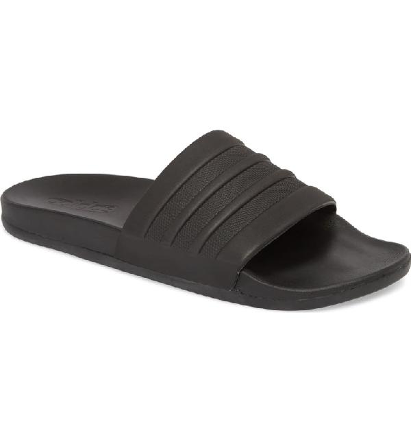 4bade2097 Adidas Originals Adilette Cloudfoam Plus Mono Slide Sandals - Black ...