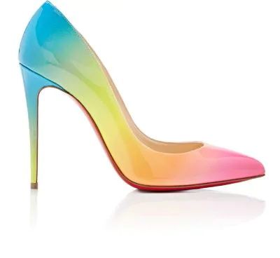 info for 4a33c 7a97f Pigalle Follies 100Mm Ombre Patent Red Sole Pumps in Multi