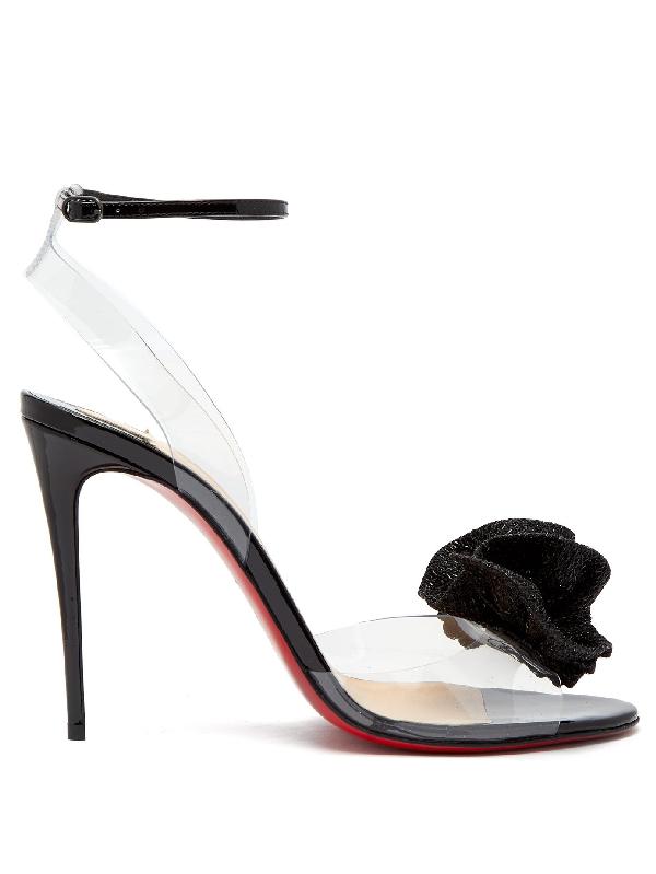 5692d504aa Christian Louboutin Fossiliza Pvc & Patent Leather Sandals - Black ...