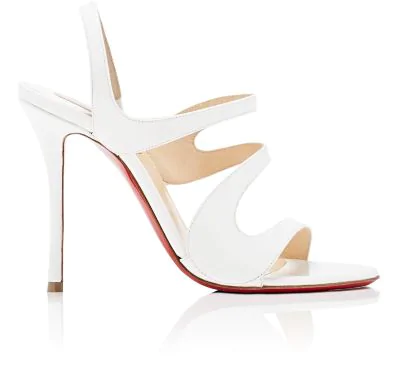 09321b6b5c Christian Louboutin Vavazou Patent Leather Sandals - Latte In White ...