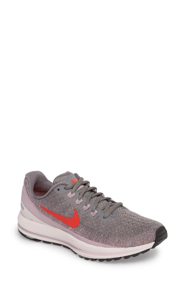 97dafede50554 Nike Air Zoom Vomero 13 Running Shoe In Smoke  Habanero Red