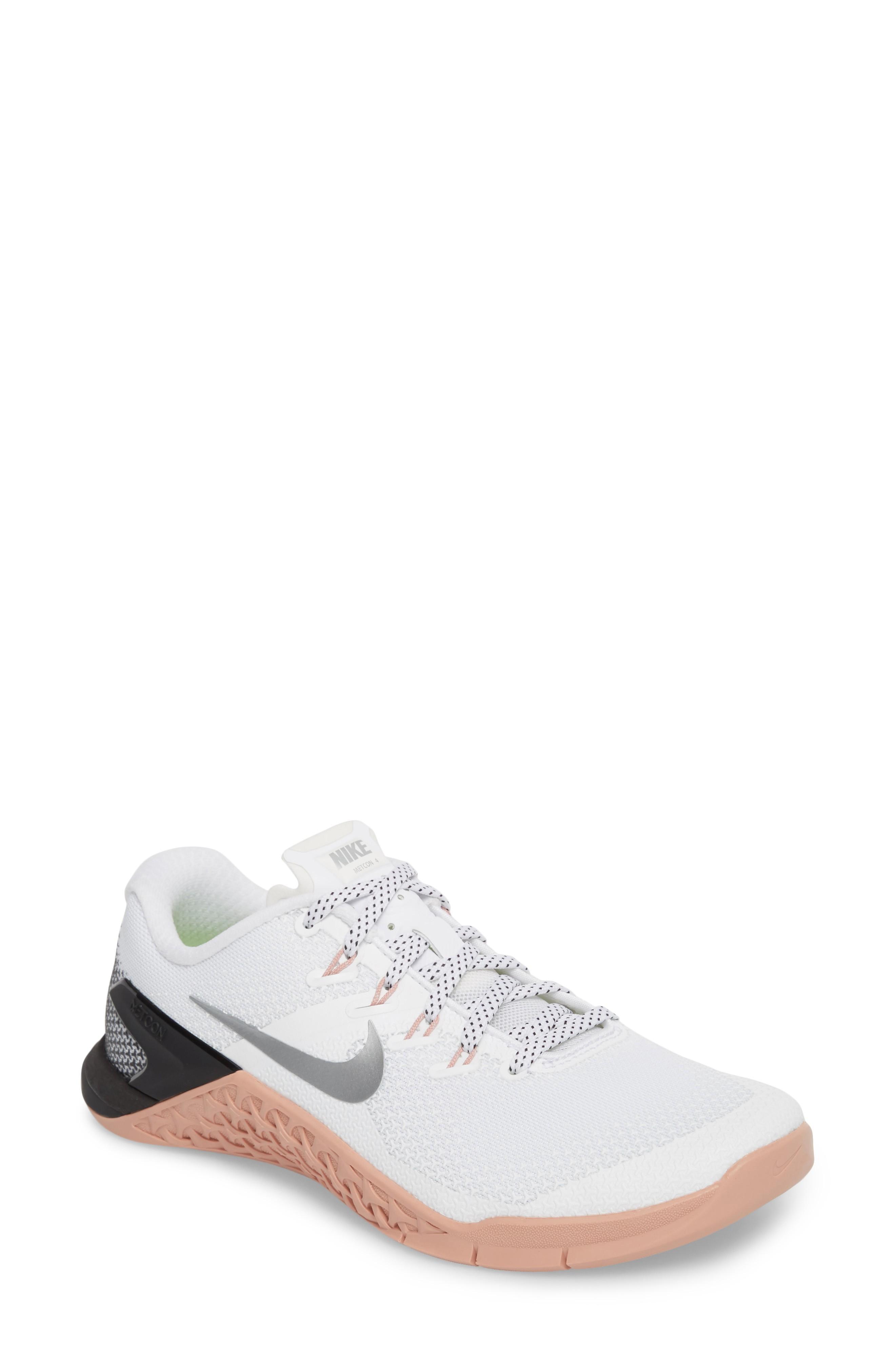 size 40 dd495 529aa Nike Metcon 4 Training Shoe In White  Metallic Silver