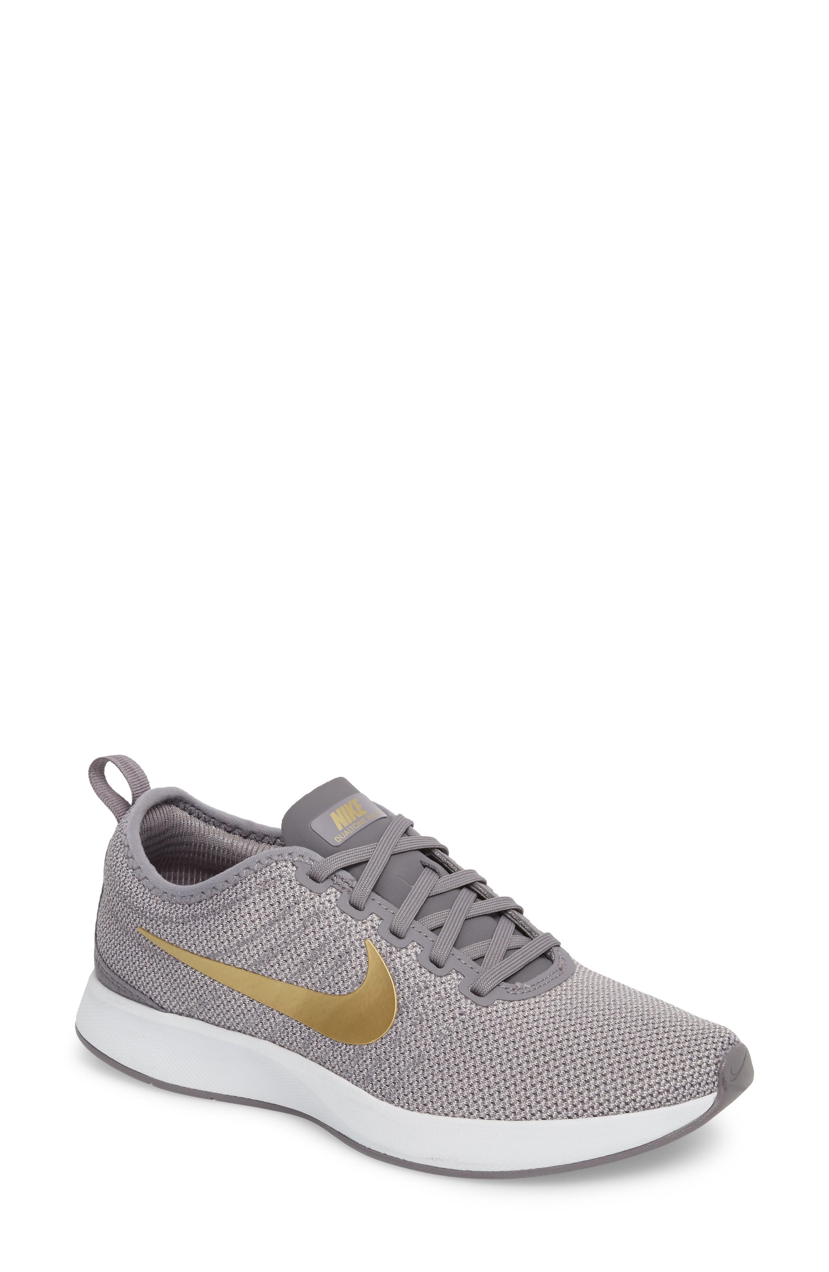 02c6dd3f5fe Nike Dualtone Racer Se Sneaker In Smoke  Metallic Gold
