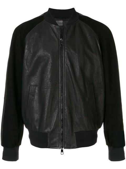 Neil Barrett Contrast Sleeve Bomber Jacket In Black
