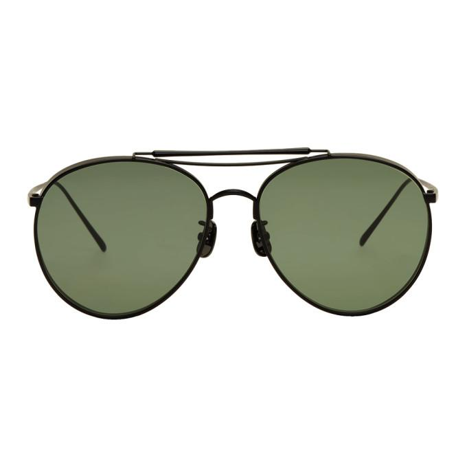 a66e6668df43 Gentle Monster Black   Green Big Bully Sunglasses