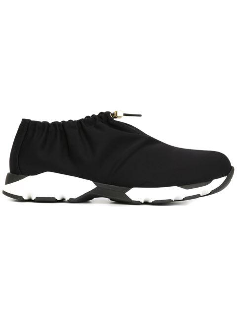 Marni Woman Toggle-detailed Neoprene Sneakers Black