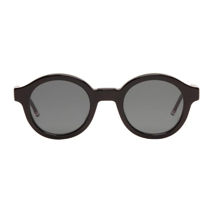 0f0a345c1db Thom Browne Black Tb-411 Sunglasses In Blk Dk.Grey