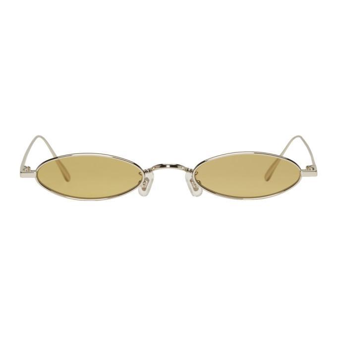440597ff427d Gentle Monster Silver   Green Plip Sunglasses
