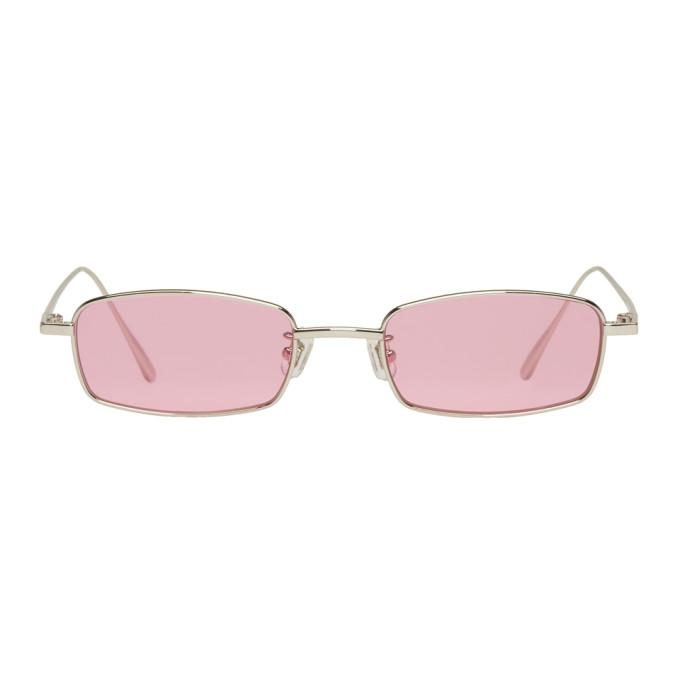 915101f397d5 Gentle Monster Ssense Exclusive Silver   Pink Palabra Sunglasses ...