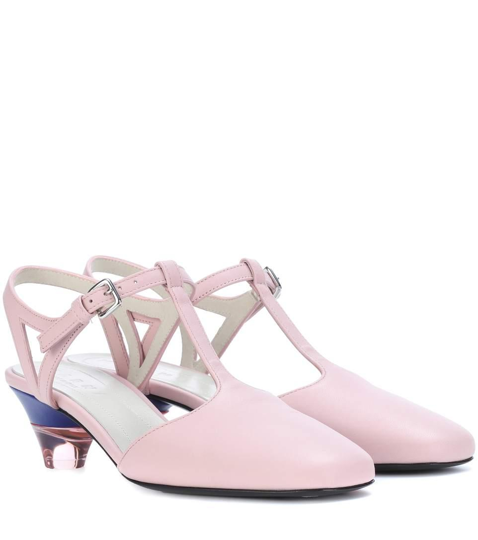 Marni Leather Pumps In Pink