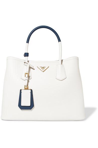af62fd33259c Prada Medium Saffiano Greca Paradigm Tote Bag In Navy/Red/White ...