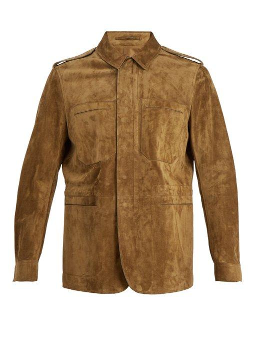Berluti Suede-Leather Field Jacket In Vision
