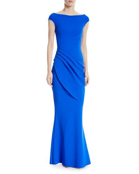 Chiara Boni La Petite Robe Chiku Pleated Mermaid Dress In Bright Blue