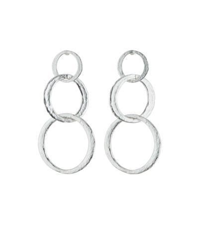 Stephanie Kantis Symbol Triple-Drop Earrings In Silver
