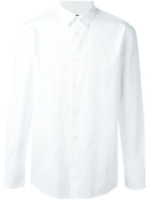 A.P.C. Button-Down Collar Cotton Shirt In White
