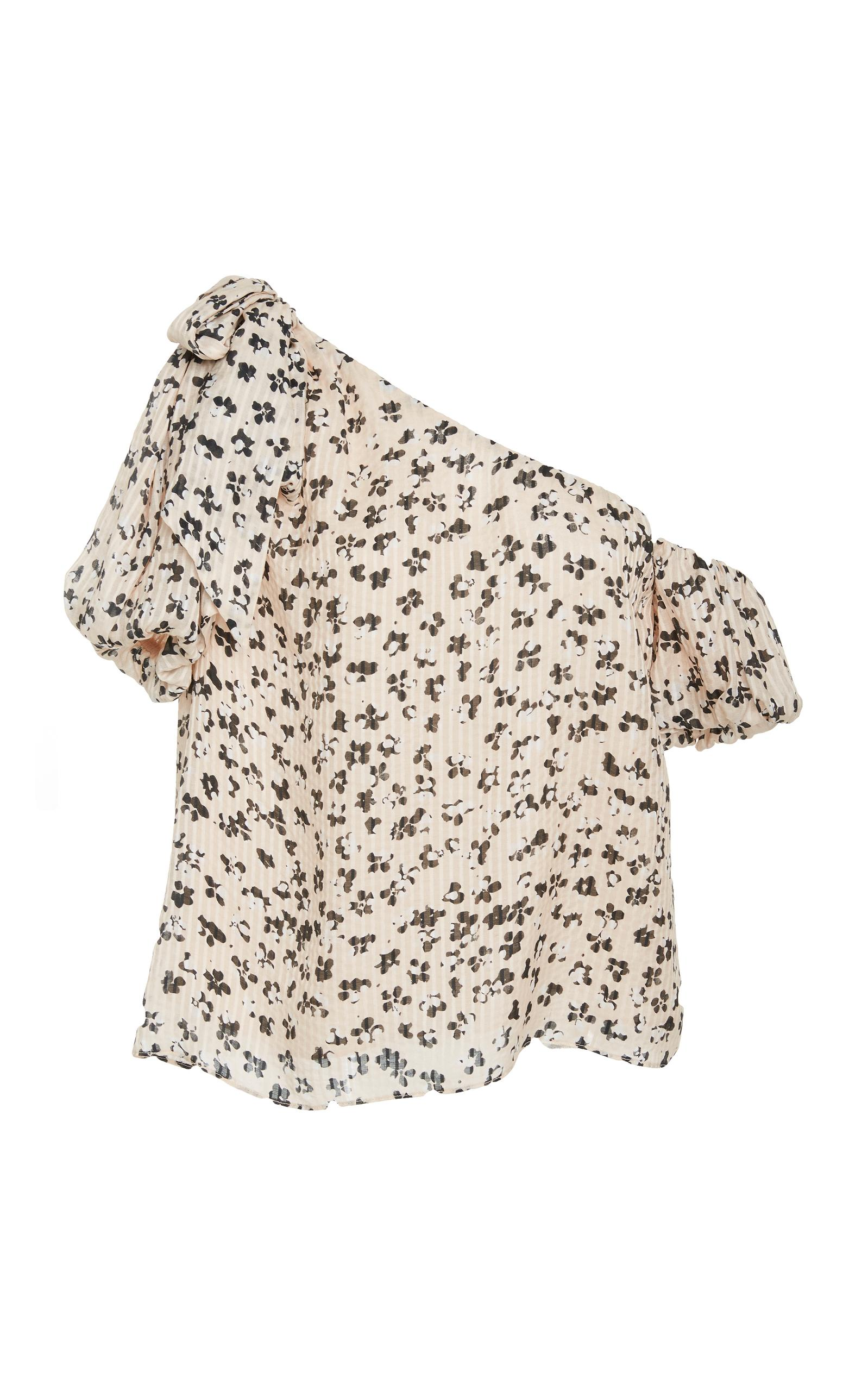 6bad72381db20 Ulla Johnson Femi One-Shoulder Floral-Print Cotton And Silk-Blend Top In