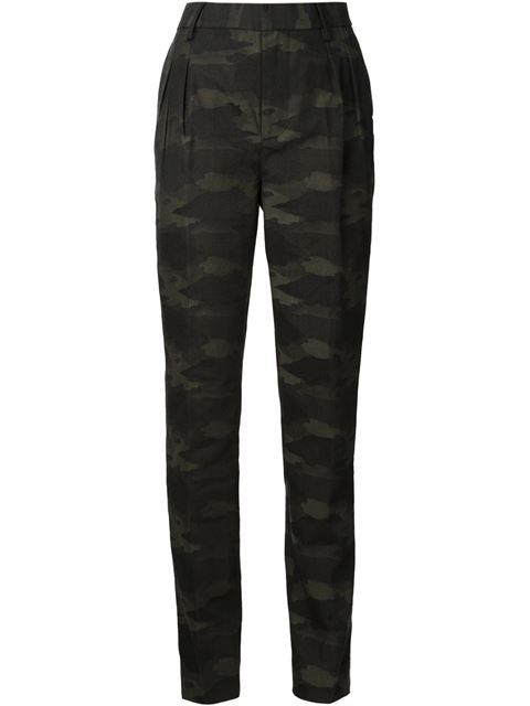 Blk Dnm Camouflage Slim Trousers