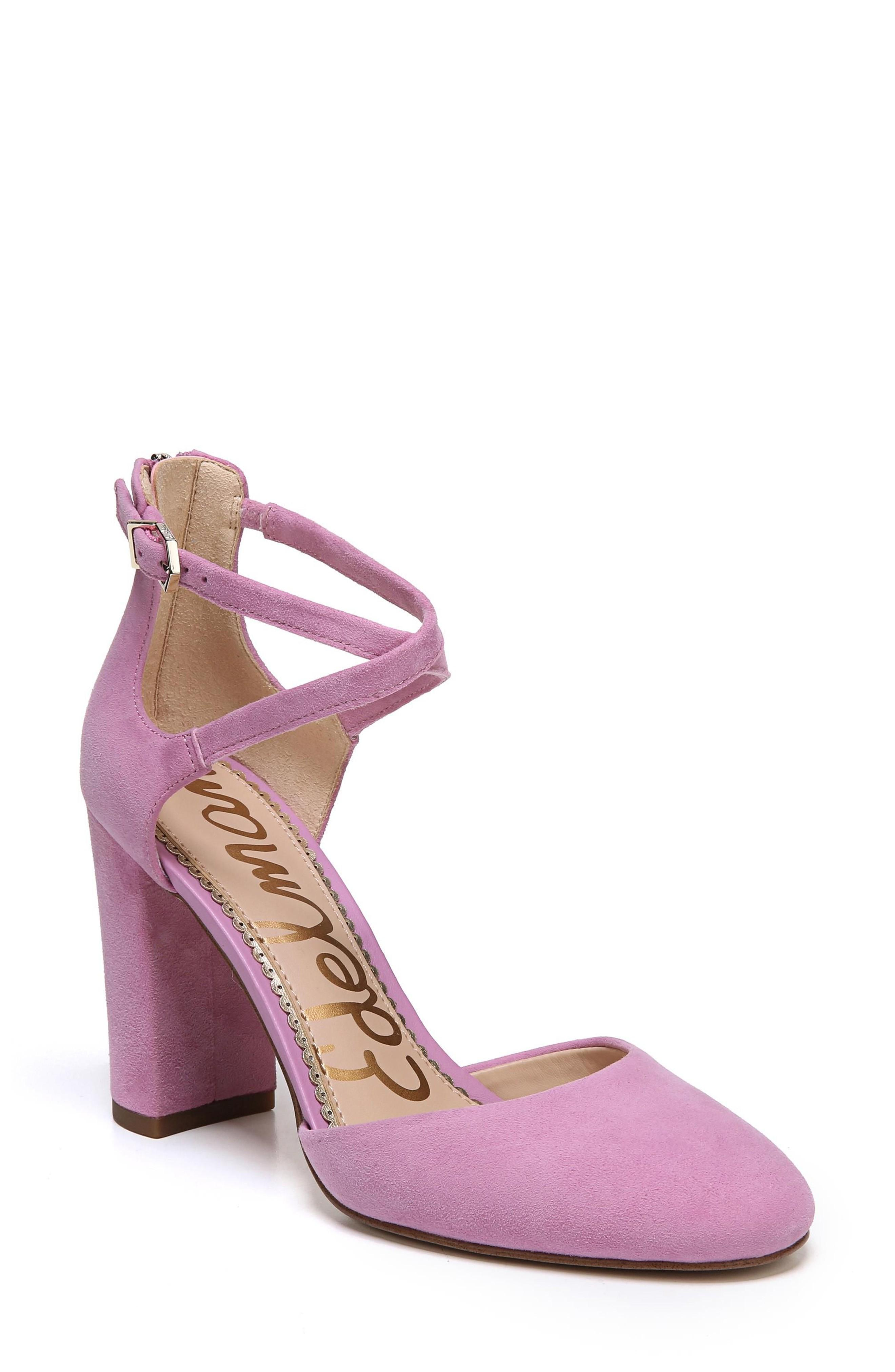 52c25747600def Sam Edelman Simmons Suede Ankle-Strap Sandals In Fiji Pink