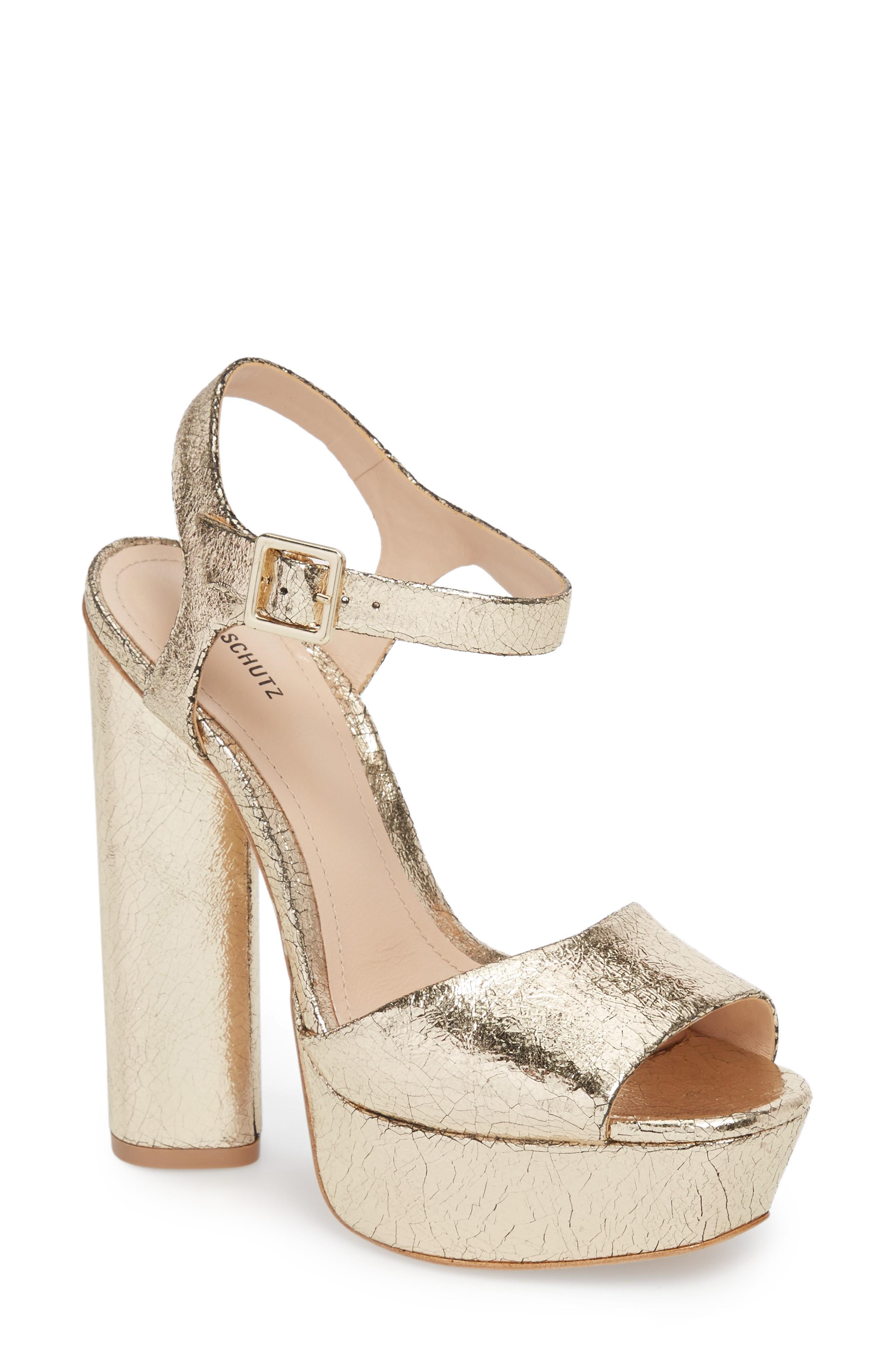 edf5e2ffb93c Schutz Jane Platform Sandal In Platina
