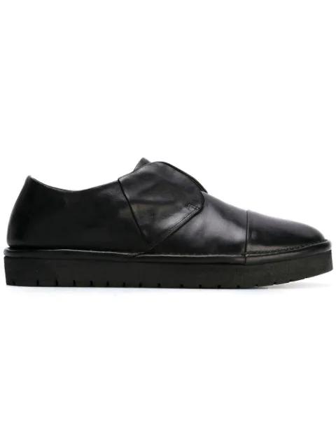 MarsÈll Laceless Rubber Sole Loafers - Black