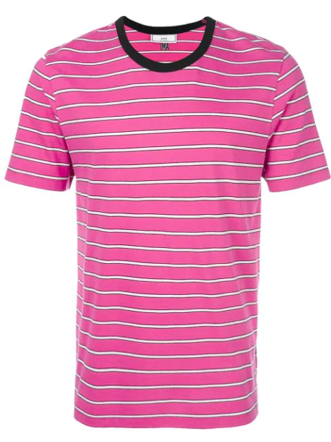 Ami Alexandre Mattiussi Striped Short Sleeves T-shirt In 650 Pink