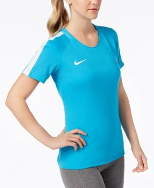 Nike Dry Academy Soccer Top In Light Blue Fury/White
