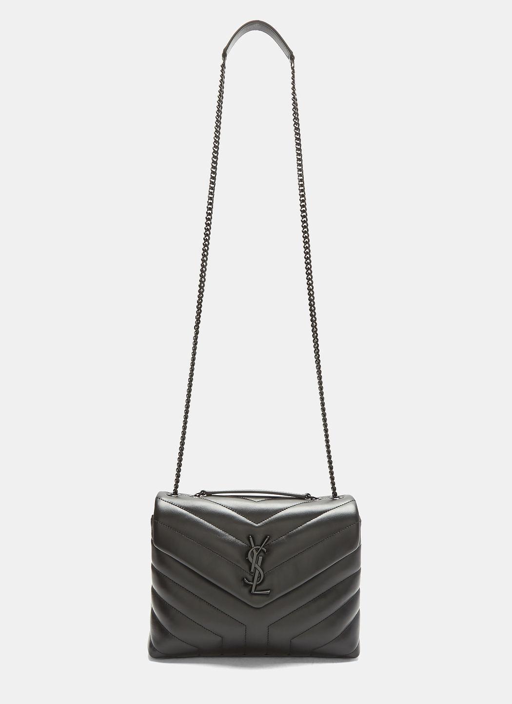 278a1843966587 Saint Laurent Small Loulou Monogram MatelassÉ Handbag In Black. SIZE & FIT  INFORMATION
