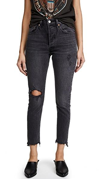 9d222265a23 Levi's 501 Stretch Skinny Jeans In Well Worn Black | ModeSens