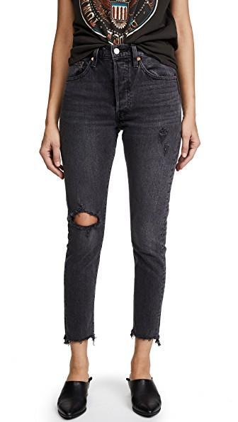 4e192a4b6cff Levi's 501 Stretch Skinny Jeans In Well Worn Black | ModeSens