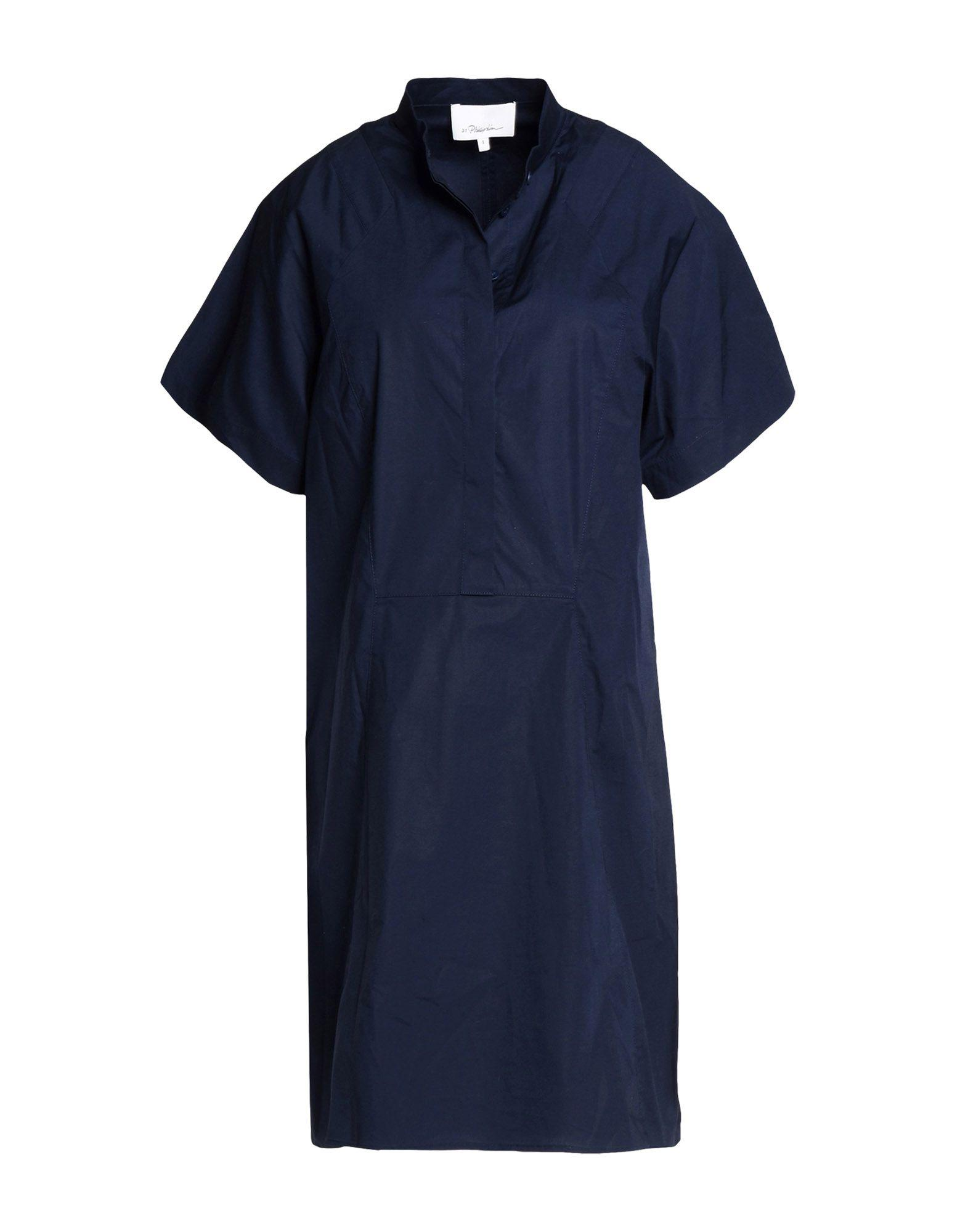 3.1 Phillip Lim Shirt Dress In Dark Blue