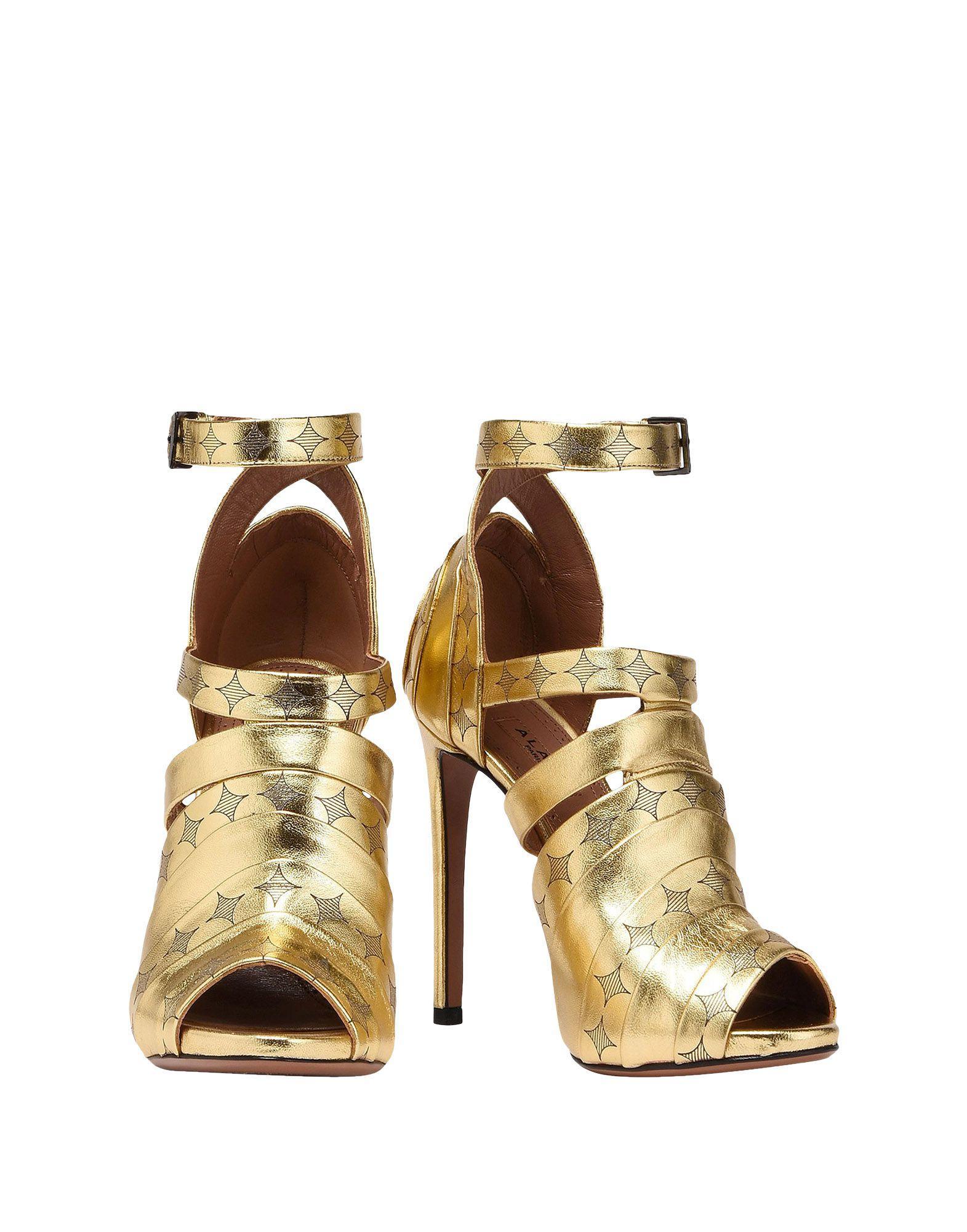 ab432df5964b AlaÏA Sandals In Gold