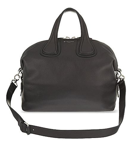 Givenchy Nightingale Medium Leather Shoulder Bag In Black