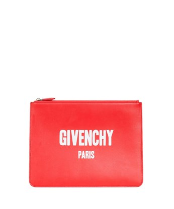 Givenchy Logo Print Pouch In Red