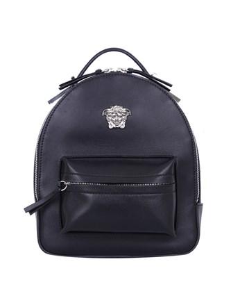 05e80c2891 Versace Palazzo Black Leather Medusa Backpack