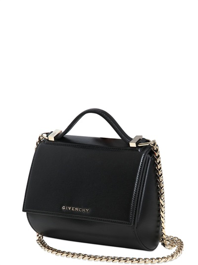 26c2b6aa48 Givenchy Pandora Box Logo-Strap Cross-Body Leather Bag In Black ...