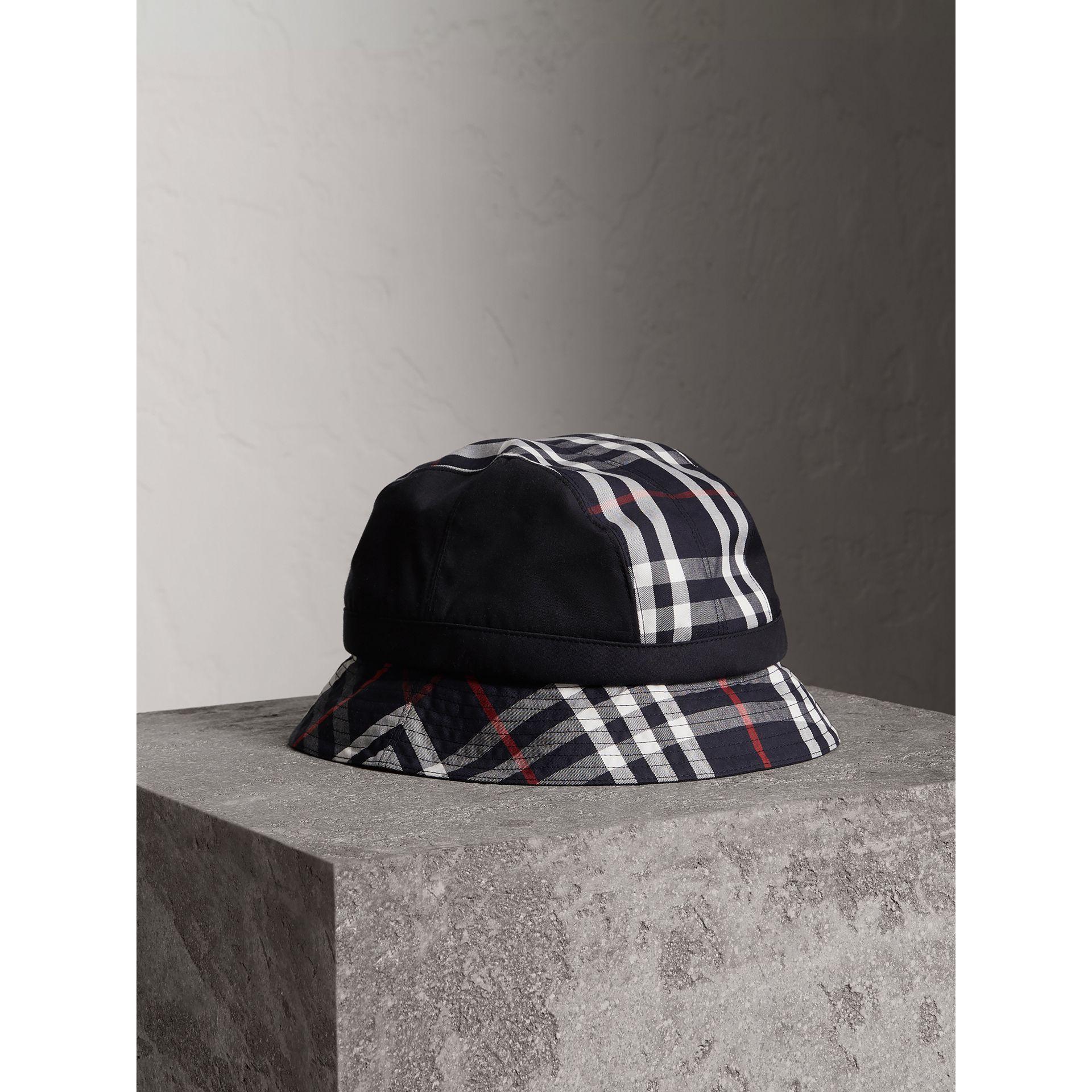 Burberry Gosha X Bucket Hat In Navy  73a7965e6cd