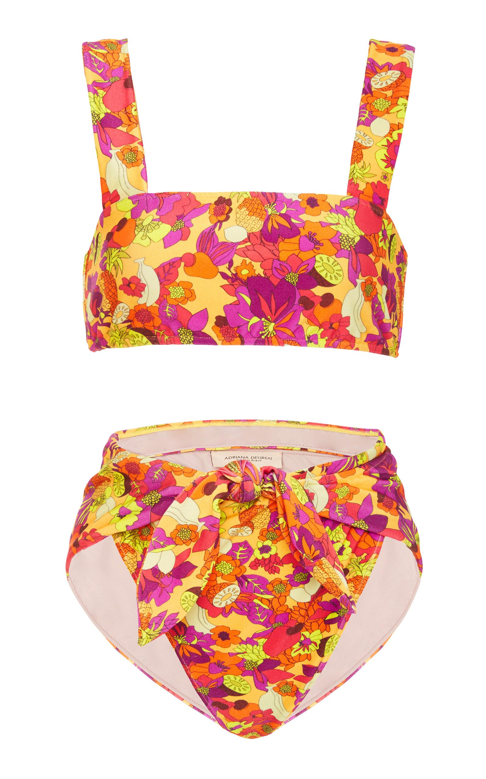 5c3f225098 Adriana Degreas Fruits Print High Leg Bikini In Floral | ModeSens